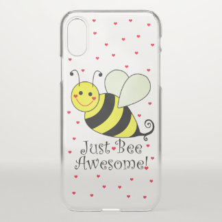Just Bee Awesome Yellow Bumble Bee iPhone X Case