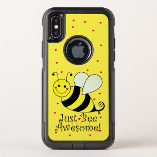 Just Bee Awesome Yellow Bumble Bee OtterBox Commuter iPhone X Case