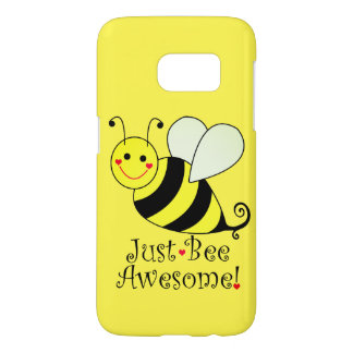 Just Bee Awesome Yellow Bumble Bee Samsung Galaxy S7 Case