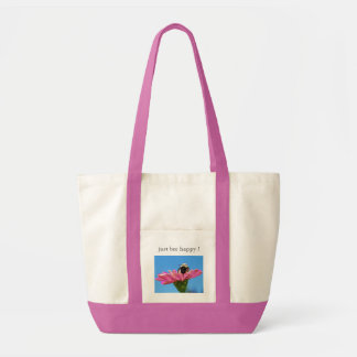 'just bee happy !' Tote Tote Bags