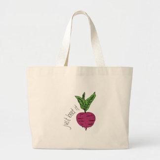 Just Beet It Jumbo Tote Bag