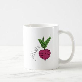 Just Beet It Classic White Coffee Mug