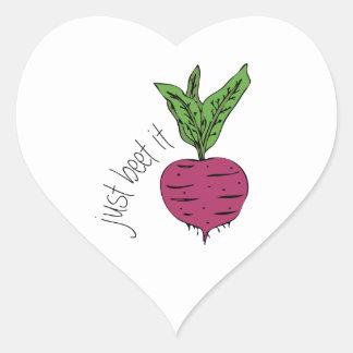 Just Beet It Heart Sticker