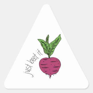 Just Beet It Triangle Sticker