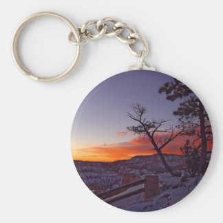 Just Before Sunrise At Bryce Canyon National Park Key Chains