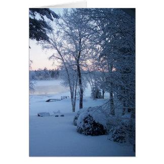 Just before Sunrise Card