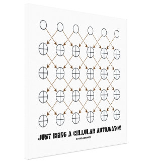 Just Being A Cellular Automaton (Rule 90) Canvas Print