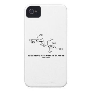 Just Being As Sweet As I Can Be (Sucrose Molecule) iPhone 4 Case