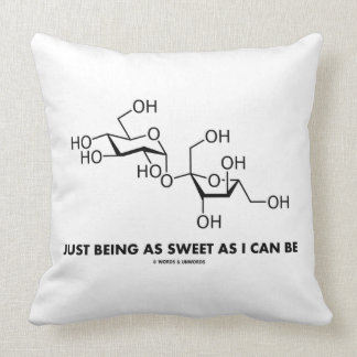 Just Being As Sweet As I Can Be (Sucrose Molecule) Throw Pillow
