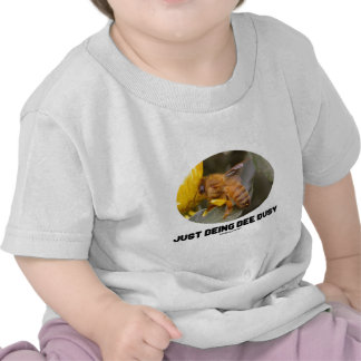 Just Being Bee Busy Bee On Yellow Flower Tshirt