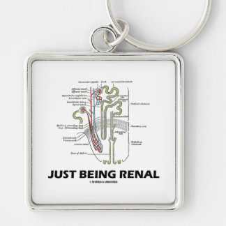 Just Being Renal (Kidney Nephron) Keychains