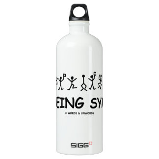 Just Being Symbolic (Dancing Men Substitution) Water Bottle