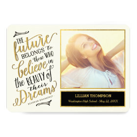 Just Believe EDITABLE COLOR Graduation Card