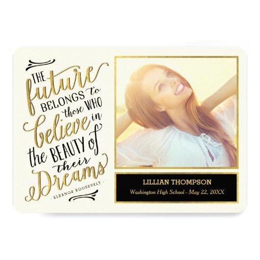 Just Believe EDITABLE COLOR Graduation Card