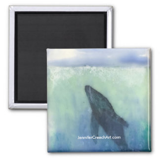 """""""Just below the Surface: Whale""""  Art Magnet"""