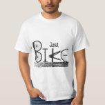 """""""Just Bike"""" Graffiti from Bike Parts & Tire Tracks T Shirt"""