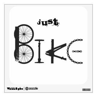 """Just Bike"""" Graffiti from Bike Parts & Tire Tracks Wall Sticker"""