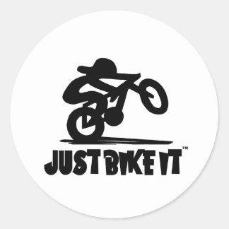 Just Bike It Classic Round Sticker