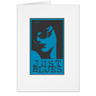 Just Blues Girl Card
