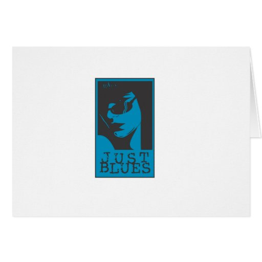 Just Blues Girl Greeting Card