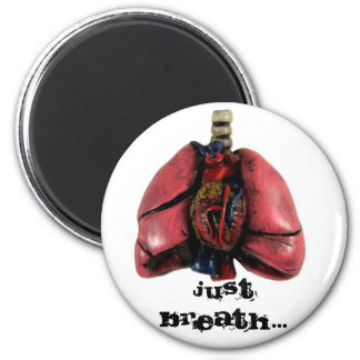 Just Breath 2 Inch Round Magnet