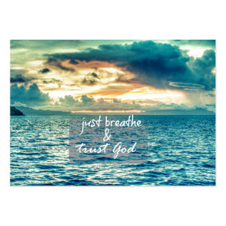 Just Breathe and Trust God Faith Quote Large Business Cards (Pack Of 100)