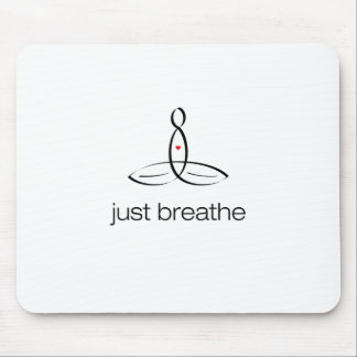 Just Breathe - Black Regular style Mouse Pad