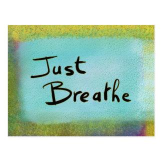 Just Breathe Blue Postcard