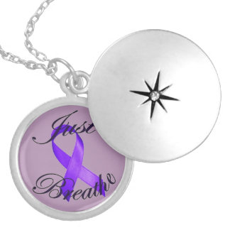 JUST BREATHE Cystic Fibrosis Awareness Locket