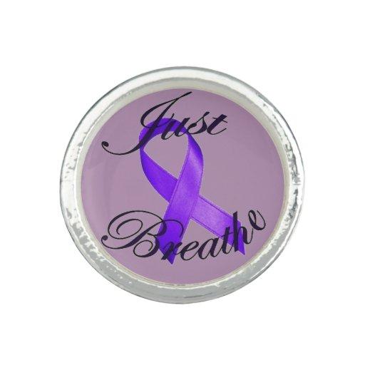 JUST BREATHE Cystic Fibrosis Awareness Ring
