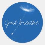 Just breathe - Dandelions floating Sticker