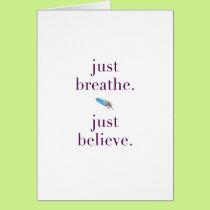 Just Breathe Encouragement Blank Card