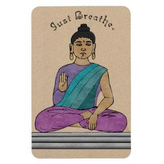 Just Breathe (flexible magnet) Rectangular Photo Magnet
