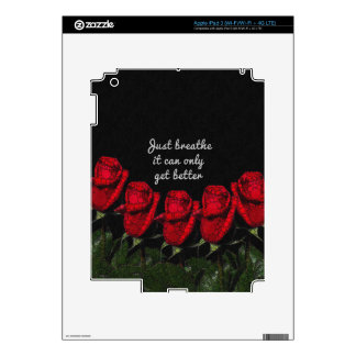 Just Breathe Flower Design Decal For iPad 3