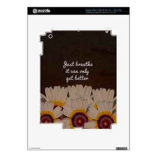 Just Breathe Flower Design iPad 3 Skins