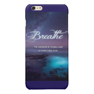 Just breathe glossy iPhone 6 plus case