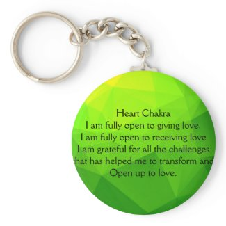 Just Breathe Heart Chakra Keychain