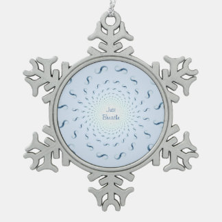 Just Breathe Infinite Infinity Snowflake Pewter Christmas Ornament