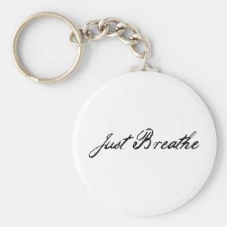 just breathe keychains