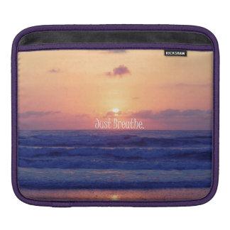 Just Breathe Ocean Sunset Sleeve For iPads