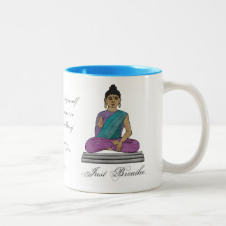 Just Breathe (Personalized Mug) Two-Tone Coffee Mug