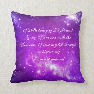 Just Breathe Pillow Crowne Chakra