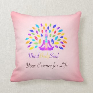Just Breathe Pillow Pink