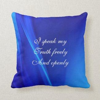 Just Breathe Pillow Throat Chakra