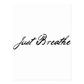 just breathe post card