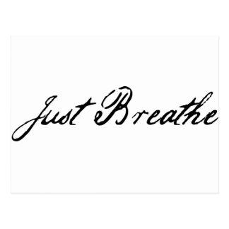 just breathe postcard
