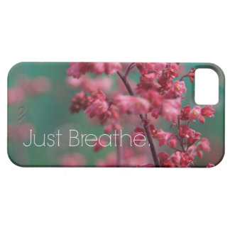 Just Breathe Quote (Floral) iPhone SE/5/5s Case