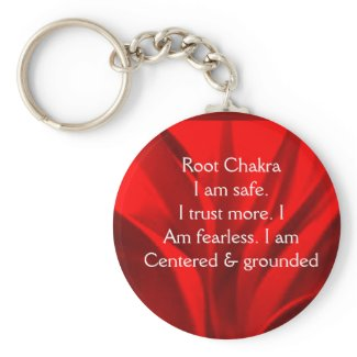 Just Breathe Root Chakra keychain