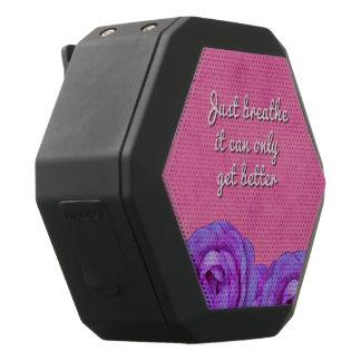 Just Breathe Roses Black Bluetooth Speaker
