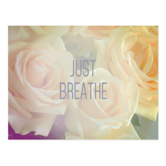 Just Breathe - Roses Postcard